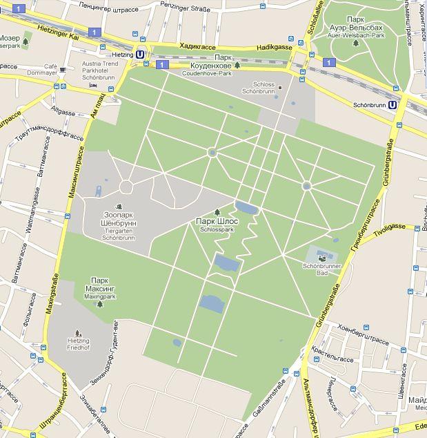 Карта Шенбрунна.