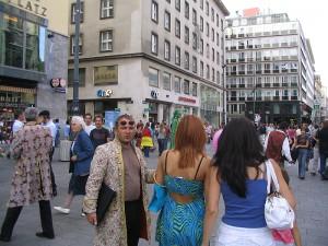 Площадь Stephansplatz. Центр туристической Австрии.