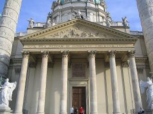 Церковь святого Карла. Австрия Вена достопримечательности.