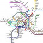 Карта метро Вены.