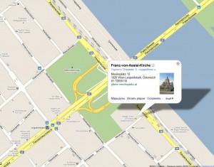 Карта Вены. Mexikoplatz.