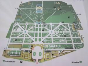 Карта Вены. Шенбрунн. Карта Шенбрунна.